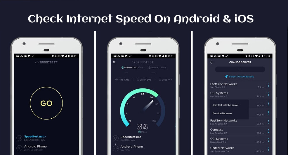 Check Internet Speed On Android & iOS