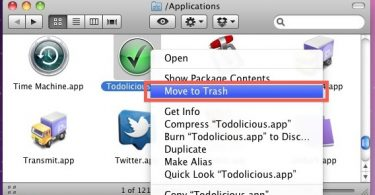 uninstall a program on mac