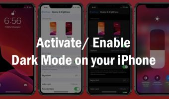 Activate Enable Dark Mode on your iPhone