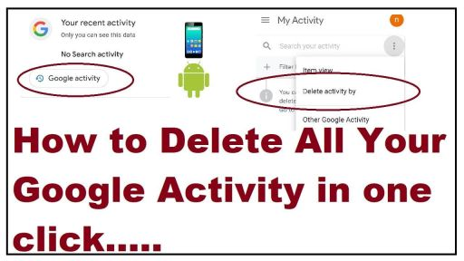 delete google activity,clear browsing history