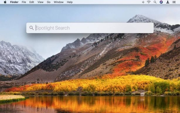 spot light search on mac